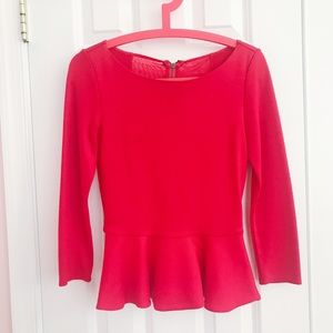 Alice+Olivia Red Long Sleeve top